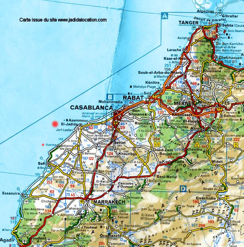 Moroccan Highways & Roads maps only Cartes autorouti¨res et